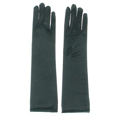 Designer 0412 Womens Black satin Opera Evening Gloves O/S BHFO