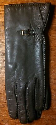Vintage Beautiful Gray Jacobson's Made In Italy New Gloves ~ Size Small