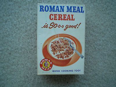 Roman Meal Sample Cereal Box 1959 Mint