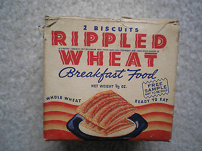 Rippled Wheat Sample Cereal Box 1936