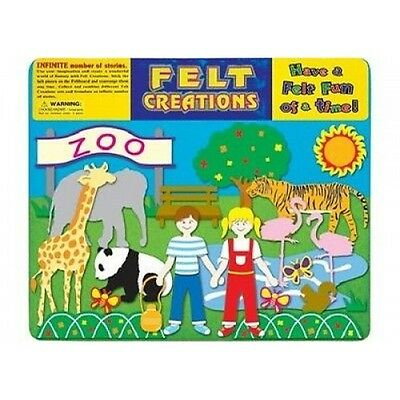 NEW Felt Creations Zoo Felt Story Board - Kids Crafts Zoo Animals Tiger Giraffe