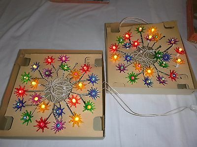 2 Sets Vtg Christmas Light Set Gibraltar Starflower Frosty Pearl Lamps