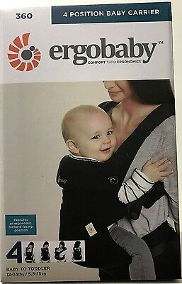 *Ergobaby Four Position 360 Baby Carrier Ergo Pure Black BRAND NEW FREE SHIPPING