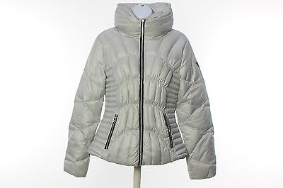 Women's GUESS Gray Polyester Long Sleeve Winter Jacket Size M