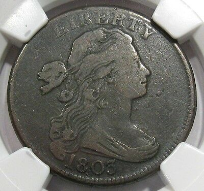 1803 Draped Bust Large Cent  NGC F 15