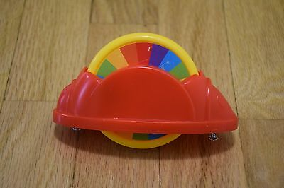 Fisher Price Rainforest Jumperoo Red Color Wheel Spin Toy Replacement Part