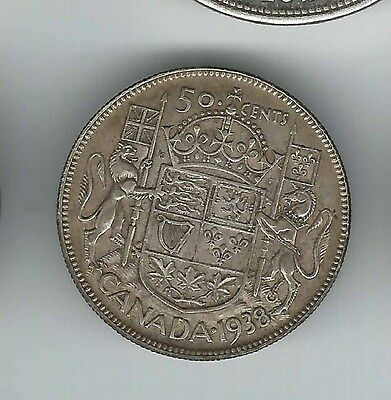 Canada 50 cents 1938 - Better Date - No Reserve!