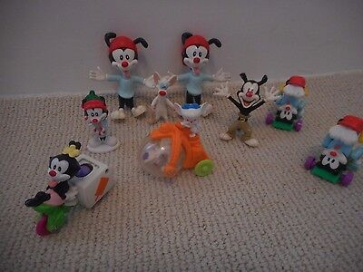 Warner Bros Animaniacs Toy Figures PVC Toys lot of 9 Bendems just toys inc Pinky