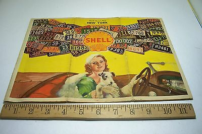SHELL OIL SERVICE STATION  HIGHWAY ROAD MAP 1933 New York