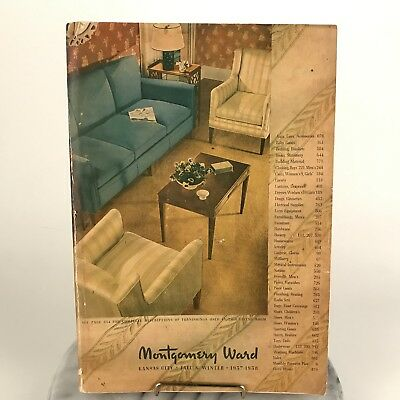 Vintage 1937 1938 Montgomery Ward #127 Fall & Winter Catalog 848 Pgs Good Cond