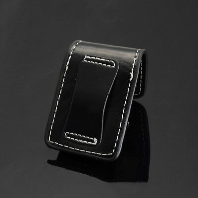 New Luxury Geniune PU Leather Cigarette Lighter Sheath Pouch Case Holder Black