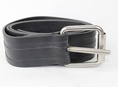 Weight Belt 1.25m Stainless Steel Buckle & Rubber Ajustable - Scuba Spearfishing