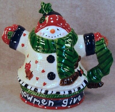 Beautiful Lefton Snowman Give The Warmest Hugs Large Milk/water Pitcher