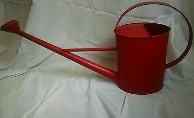 Czech Republic Antique Red Metal Watering Can RARE
