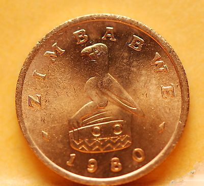 Zimbabwe, 1980 Cent, Red Brilliant Uncirculated, No Reserve,                  ^+