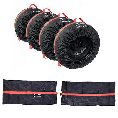 """Car SUV Spare Wheel Tyre Tire Protection Storage Bag 13""""-20"""" Carry Tote Cover w/"""
