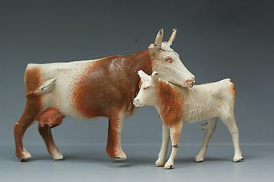 CRESCENT HOLLOWCAST LEAD FARM SERIES - COW MOTHER & CALF - Matching Pair...!!