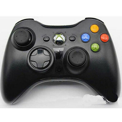 Black Wireless Game Controller For Microsoft Xbox 360 Windows PC Gamepad ZZY