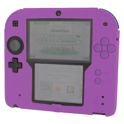 ZedLabz soft silicone gel protective cover bumper case for Nintendo 2DS - Purple