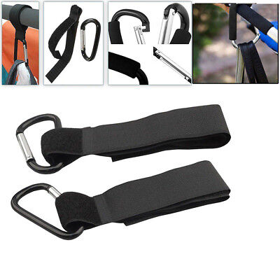 2 X Buggy Clips Mummy Universal Pram Pushchair Shopping Bag Hooks Straps