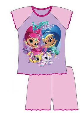 Girls Shimmer and Shine Shortie Pyjamas shorts set ages 12 months to 4 years