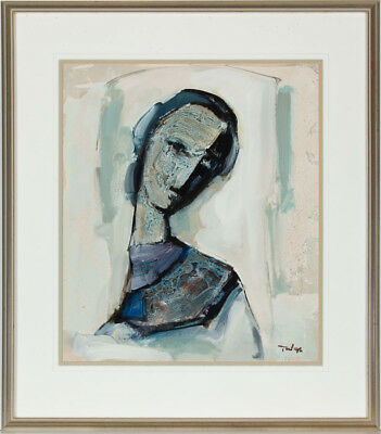 Tadeusz Was (1912-2005) - 1995 Mixed Media, Portrait of a Woman