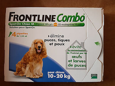 Frontline  Combo - Spot-On  Chien  M - 10-20 Kg - 4 Pipettes