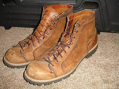 Men's Brown Leather Ankle Boots Work Shoes Possibly DAnner Size 16 16.5