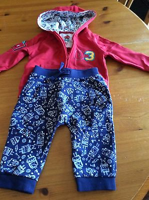 boys red blue outfit 3-6 months