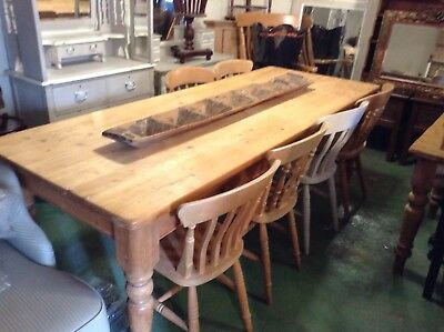 A Large Old 7ft 6 - 10 Seater Farmhouse Table