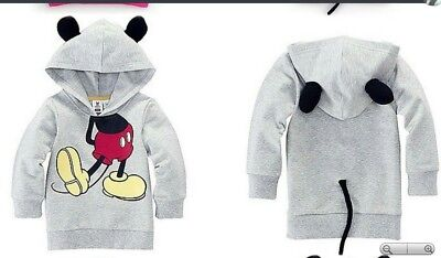 New * Mickey Mouse Grey Hoodie * Age 12-18Months * Boy  * Freepost * Uk Stock