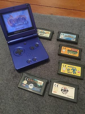 Gameboy Advance SP Blue With Games