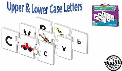 Preschool Learning Puzzle Kids Educational Cards Game Upper & Lower Case Letters