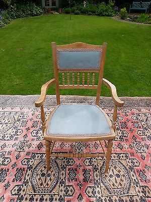 Oak upholstered antique chair