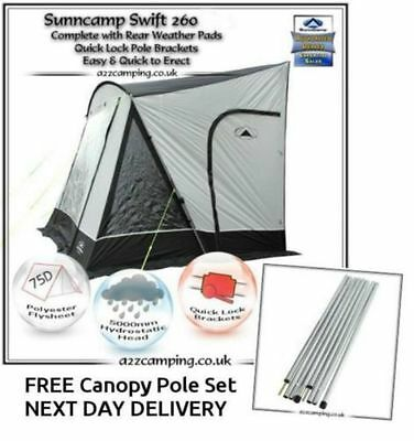 New 2018 Sunncamp Swift 260 Deluxe Caravan Porch Awning Plus Rear