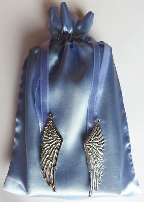 Feather Charm Tarot Bag Blue