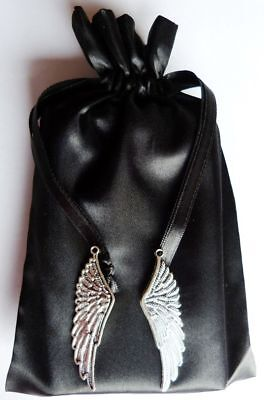 Feather Charm Tarot Bag Black