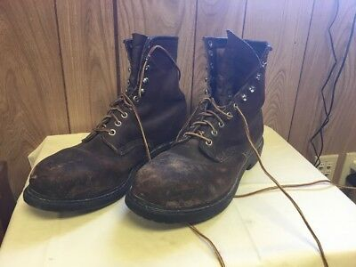 Redwing Mens Work Boots Size 11 1/2 D Brown Leather USA
