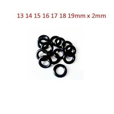 13-19mm O-Ring Oil Resistant Sealing Ring NBR Nitrile Butadiene Rubber 2mm Black