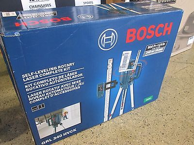 Bosch Self-Leveling Rotary Laser Level Complete Kit GRL240HVCK NEW
