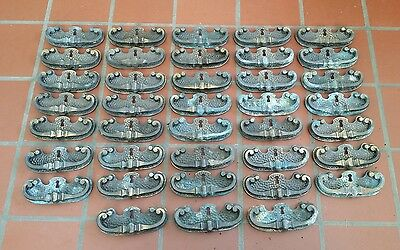 Vintage 38 pc Lot of Drawer Pull Handle Knob Key Hole Handles Dresser Hardware