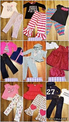 LOT Of 23 Pc Girls Size 24 M 2T Fall Winter Boutiques Outfits