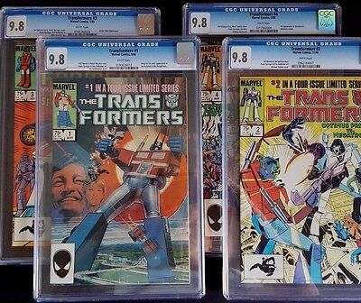 The Transformers #1, #2, #3, #4 (Marvel) - EACH ISSUE CGC GRADED 9.8!!