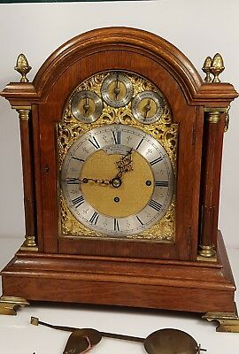 Musical 8 Bells 5 Gongs Triple Fusee Sir John Bennett London Bracket Clock