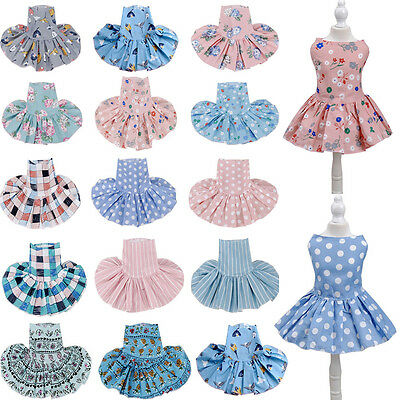 Puppy Cute Pet Dog Cat Cotton Dress Skirt Princess Costume Apparel Clothes