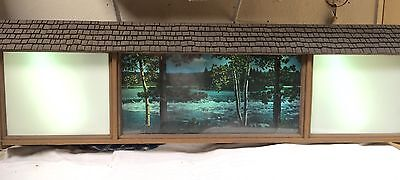 Vintage Hamm's Revolving/Motion Scene-o-rama Waterfall + 2 Custom Picture Sign
