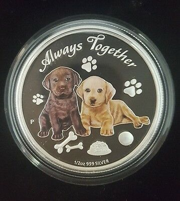 2016 Tuvalu Always Together 1/2 Oz Silver Proof Coin w/Box COA only 7500 Minted!