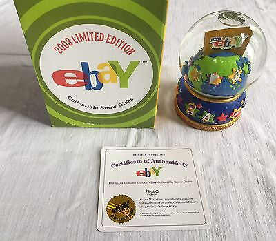 NEW Rare 2003 Limited Edition eBay Collectible Snow Globe 830/2000