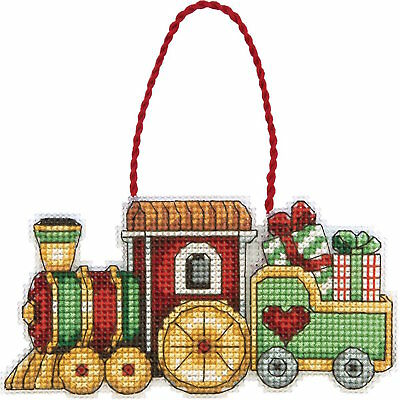 Dimensions Susan Winget 70-08897 Train Ornament Counted Cross Stitch Kit