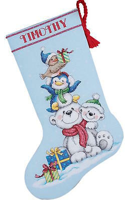 Dimensions Needlecrafts 8840 Stack Of Critters Stocking Counted Cross Stitch Kit